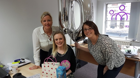 Our very own Rebecca celebrates 10 years service!
