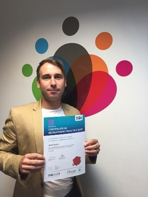 Ian passes his Certificate in Recruitment!